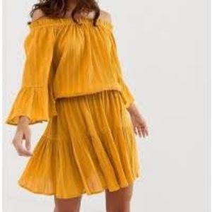 Asos Off the shoulder mini dress
